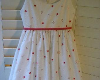 Girl's Cotton Eyelet Dress, Size 5/6