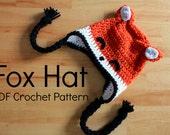 Fox Hat Pattern - PDF Instant Download