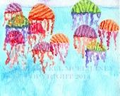 AFLOAT Original watercolor painting
