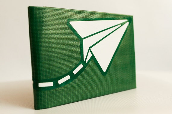 Paper Airplane Duct Tape Wallet - by jDUCT