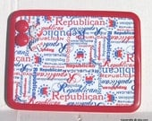 Vote Republican Magnetic Board Bulletin Board MagnetBoard Comes With 4 Button Magnets Kitchen Dorm School Locker Adults Teens