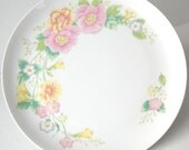 1982 Shafford Cake Salver, Pedestal Cake Stand, Wedding Table, Pink and Yellow Flowers, Dessert Time