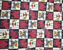 SALE 1950s Whimsical Print Castles Knights Corduroy Circle Skirt Vintage Small Waist 26 Viva Las Vegas Rockabilly Pin Up Koret California