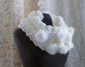 Snow Bunny Loop Scarf in winter white