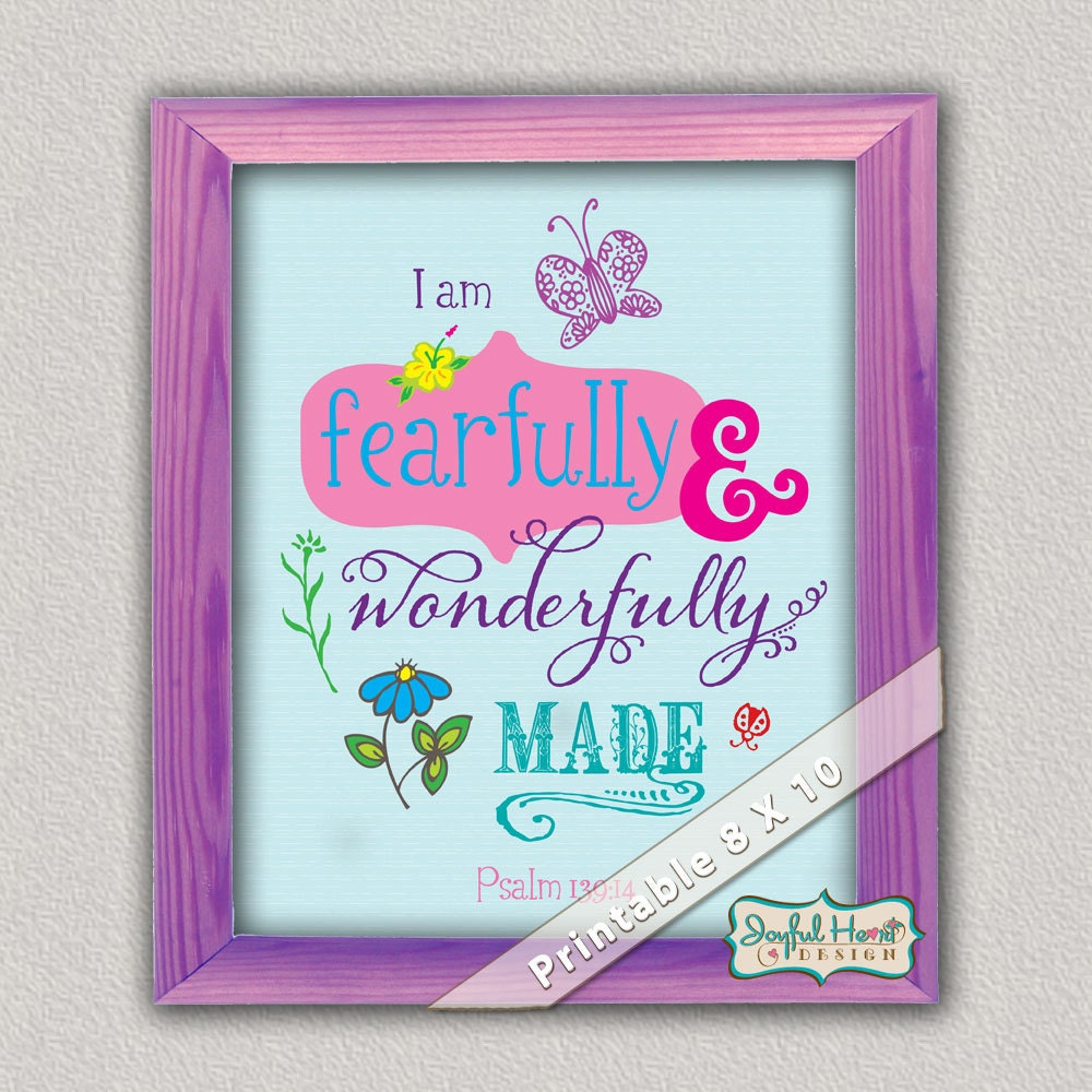 psalm 13914 i am fearfully and wonderfully made bible verse