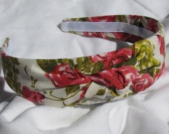 Vintage Rose Knot Headband Hairband