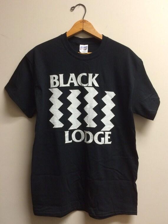 Black Lodge Twin Peaks Black Flag Tee Shirt By