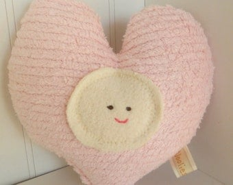 Waldorf Toy, Eco Kids Toy, Lovey, Heart Toy Plush, Natural, Eco-Friendly Childs Pillow