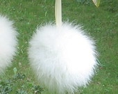 "Marabou Feather Kissing Ball,6"",8""10"",12"", Feather Pomander,wishie,snowball,dandelion,winter wedding,frozen.country,fantasy,white,ivory"