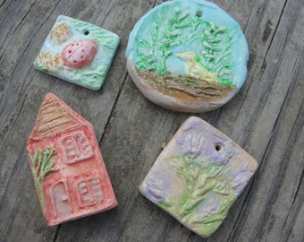 Orphan beads, Rustic dreamy Art beads, ChristyLDesigns