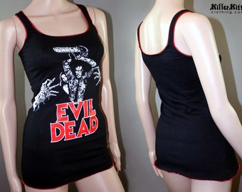 Evil Dead 80s Horror Movie Tank Top Shirt Ash Vs The Evil Dead Halloween Army of Darkness