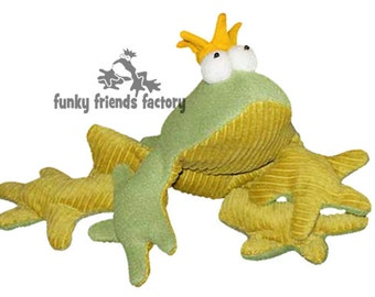 Frog (Prince Charming) Soft Toy Pattern PDF INSTANT DOWNLOAD