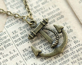 Brass Anchor Necklace number 3