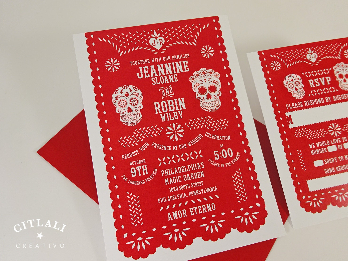 mexican banner – OnePaperHeart – Stationary & Invitations