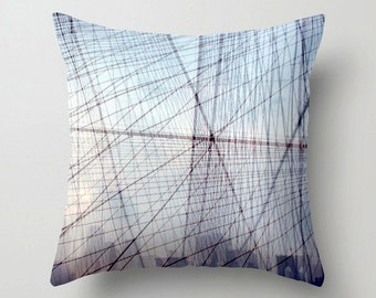nyc art throw pillow. geometric decor. new york photo pillow cover. decorative pillow. nyc photography accent pillow surreal brooklyn bridge