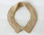 Lovely Vintage Handmade Faux Pearl Collar Japan