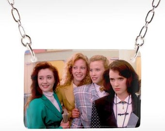 Heathers Necklace - Heathers Movie, 80s Movie Necklace, Winona Ryder, Christian Slater, Cult Classic
