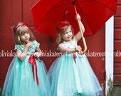 Aqua Blue Dress sz 10 12