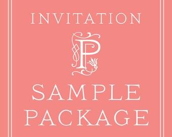 Wedding Invitation SAMPLE PACKAGE
