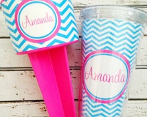 Personalized Beach Spiker and Straw Tumbler Gift Set