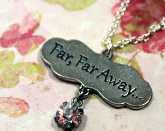 Far Far Away Fairy Tale Charm Necklace Perfect for Layering Choice of Lengths