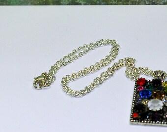 Pocket Full of Sparkles Vintage Swarovski Rhinestone Necklace OOAK