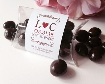 Chocolate Covered Espresso Beans Wedding Favors