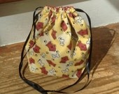 Gone to the dogs- sock knitting bag