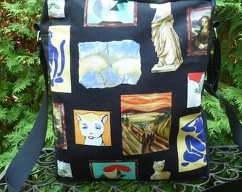 Cat shoulder bag, zippered shoulder bag, cross body bag, Meowsterpiece, The Fox