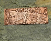 SALE Dragonfly Etched Solid Copper Finding Components Pendant Necklace Bracelet Handmade Etched Sra