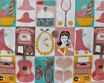 Alexander Henry, Nicole's Prints, Mademoiselle Soft Pink Fabric - Half Yard