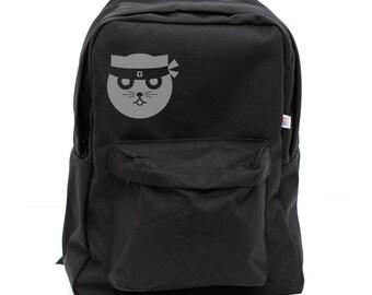 Backpack: Kung Fu Watson the Cat, Nylon Backpack, Rucksack, Laptop Bag, Ninja Cat, Kids School Backpack, Mens Backpack, Womens Backpack