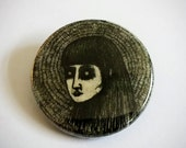 The head of her ghost Button - 1 1/4""