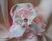 ROSE RIBBON Jewellery Lace Wrist Cuffs (Pastel and Bright Colours)