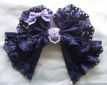 EVENING STAR Bow Lace Headdress Silver Star