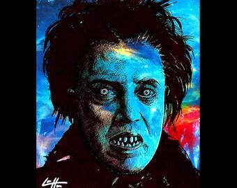 "Print 8x10"" - The Headless Horseman - Sleepy Hollow Christopher Walken Horse Johnny Depp Tim Burton Dark Art Horror Gothic Haunted Pop"