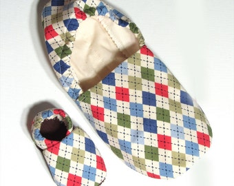 Argyle Adult Slippers (with matching baby if you'd like!)