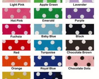 You Choose Ribbon Color Polka Dot Ruffle Ribbon Socks Birthday Party - School - Vacation - Holidays