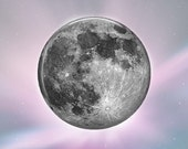 Full Moon - Glass Image Cabochon - Choice of 20mm, 25mm and 30mm Round