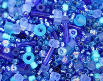 TOHO Bead Mix Amamizu Blue-20g- rocailles and delicas #3230 variety of blue high quality japanese glass seed beads rocailles and delicas