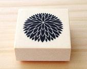 Rubber stamp - Japanese chrysanthemum - B type