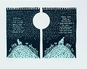 These Same Stars Screenprint