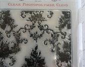 Something Tattered Vintage Style French Wallpaper Boudoir Clear Cling Rubber Stamp