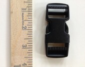 "Side Release BUCKLE - Dual Adjusting - 1"" x 3"" - 5 Pieces"