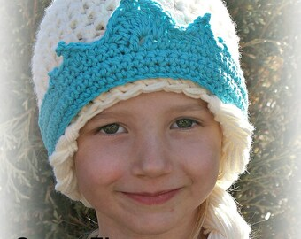 Crochet Pattern - Instant Download - Elsa Hat Pattern