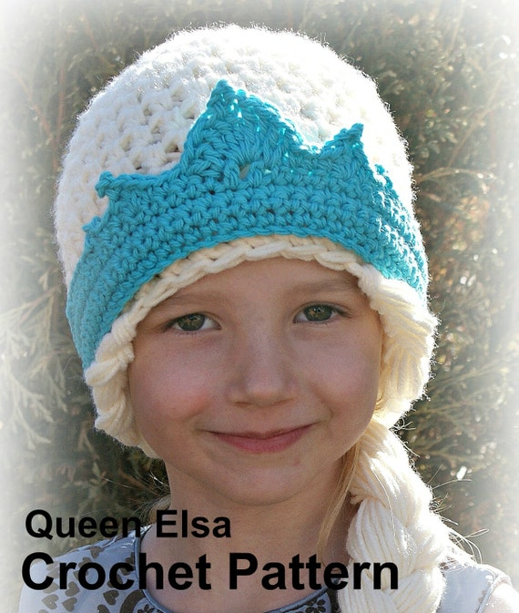 Crochet Hat Pattern For Elsa : Crochet Pattern Instant Download Elsa Hat Pattern