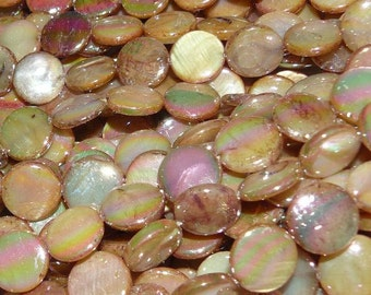 Mother of Pearl Coin Beads