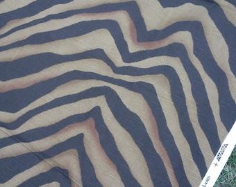 Ralph Lauren Zebra Fabric - Chappell Zebra Sepia -  Large piece of fabric over 2.5 yards