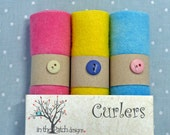 Hand Dyed Felted Wool Bundle of 3 Colors for  Applique Rug Hooking