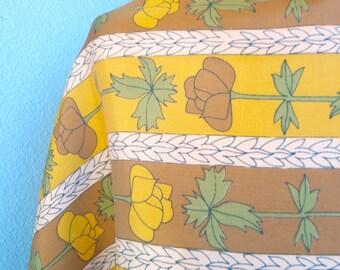 Cinnamon Flowers - a vintage 1960's Vera Neumann Lucky Ladybug Scarf